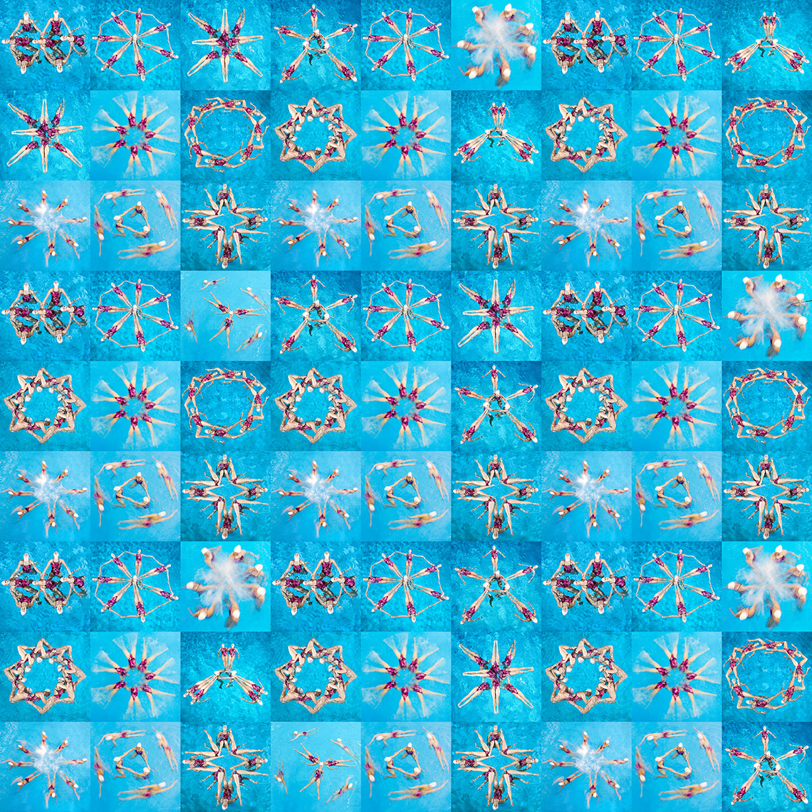 Total 81 Panel Swimmers Kaleidoscope